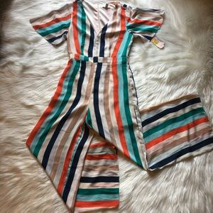 Gianna Bini jumpsuit romper striped short sleeve